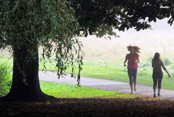 Cassiobury Park, jogger
