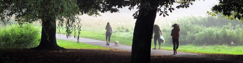 Cassiobury Park, dog walker