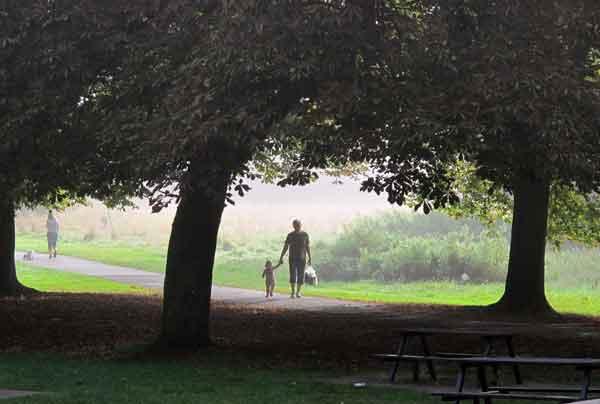 Cassiobury Park, child walker
